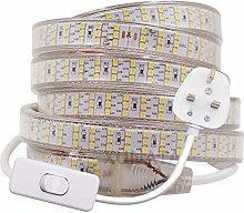 XUNATA 3m LED Strip with Switch, 2835 SMD 276