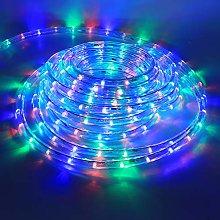 XUNATA 4m Flexible Round LED Strip Colorful, AC