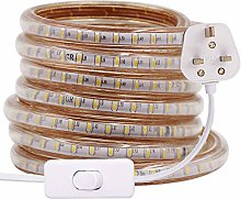 XUNATA 4m LED Strip Light with Switch (80cm Plug