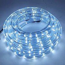 XUNATA 5m Flexible Round LED Strip Cold White, AC