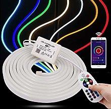 XUNATA 5m WiFi RGB Neon Light with Remote, 220V