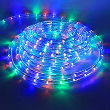 XUNATA 6m Flexible Round LED Strip Colorful, AC