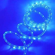 XUNATA 8m Flexible Round LED Strip Blue, AC 220V