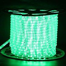 XUNATA 8m Flexible Round LED Strip Green, AC 220V