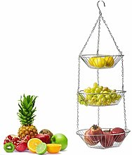 XUNMAIFLB 3 Tier Iron Hanging Fruit Basket,