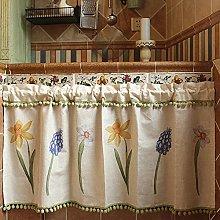 XUNMAIFLB Caravan Short Curtain, Kitchen Curtains,