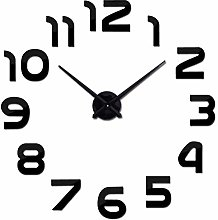 XUXUWA Alarm Clock Black Color DIY Acrylic Mirror