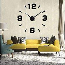 XUXUWA Alarm Clock Black DIY wall clock clock