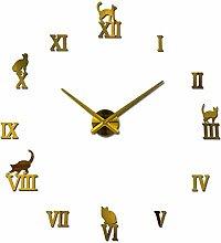 XUXUWA Alarm Clock Gold Color DIY Acrylic Mirror