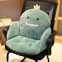 xuyang Back Support Cushion Fruit Animal Design Lumber Pillow for Bed Office Chair Backrest with Side Pocket (Color : Dinosaur, Specification : 55x35cm)