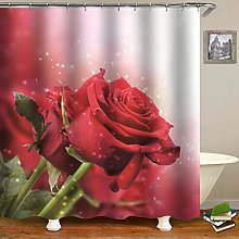XUYSD Shower curtainColorful Rose Waterproof