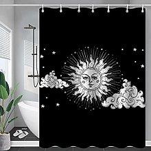 XUYSD Shower curtainConstellation Fabric Shower