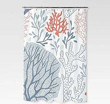 XUYSD Shower curtainGreen Tropical Plants Shower
