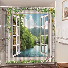 XUYSD Shower curtainVintage Street Scenery