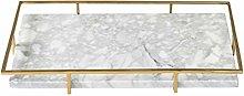 XuZeLii Decorative Tray Marble Tray Light Metal