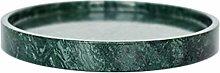 XuZeLii Decorative Tray Marble Tray Round Coffee