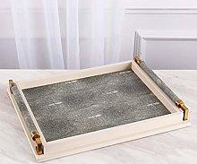 XuZeLii Decorative Tray Rectangular Leather Tray