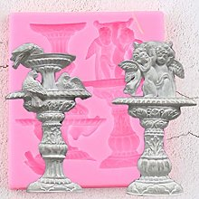 XUZHUO 3D fountain border silicone mold cake