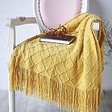 XWJRPA Cotton blanket,Knitted Throw Thread Blanket