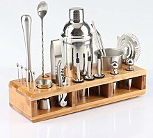 XWOZYDR 23pcs Stainless Steel Cocktail Shaker Set