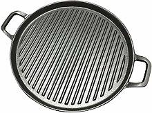XWOZYDR 30cm Thickened Striped Cast Iron Steak