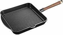 XWOZYDR Cast Iron Grill Pan, Nonstick Fry Pan with