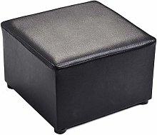 XWYJD Foot Stool Sofa Stool PU Leather Modern