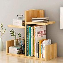 XWYSJ Desktop Bookshelf Simple Layered Bookcase
