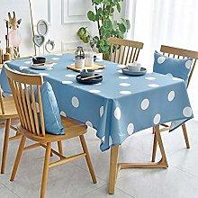 XXDD Cotton Linen Washable Tablecloth Dot Pattern
