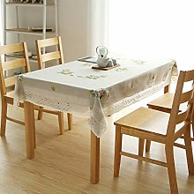 XXDD European embroidered tablecloth cotton and