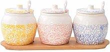 XXDTG Ceramic Seasoning Jar-Spice Jar Kitchen