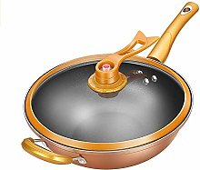 XXDTG Yellow wok non-stick pan less smoke