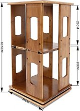 XXFFD 360 Rotary Desktop Bookshelf Bamboo
