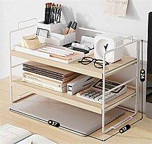 XXFFD Bookshelf Office Simple Desk Cabinet Desktop