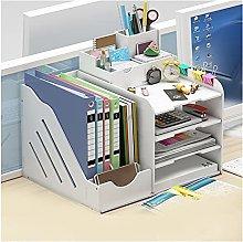 XXFFD Desk Bookshelf File Storage Rack With Drawer