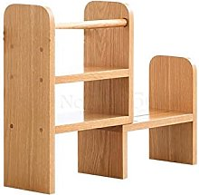 XXFFD Solid Wood Bookshelf Study Desk Small Book