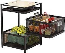 XXHL Storage Rack 2/3/4/5 Layer Kitchen Rotating