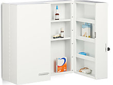 XXL Medicine Cabinet, Premium Locking w/ 2 Doors,