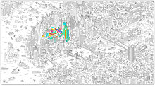 XXL New York Colouring poster - / Giant - L 180 x