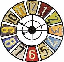 XXL Vintage WT 1614 Metal Quartz Wall Clock