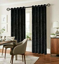 XXR CRUSHED VELVET CURTAINS LINED EYELET RING TOP