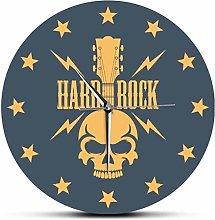 XXSCXXSC Wall Clock Hard Rock Skull With Guitar