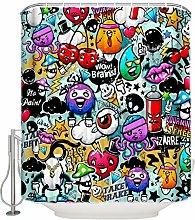 Xxxx Dtjscl Shower curtain Cute cartoon pattern