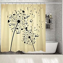 Xxxx Dtjscl Shower curtain Dandelion with musical