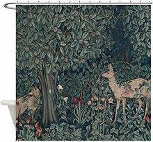 Xxxx Dtjscl Shower curtain Green decorative cloth