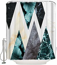 Xxxx Dtjscl Shower curtain Marble with plant