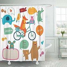 Xxxx Dtjscl Shower curtain Shower curtain bear and
