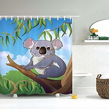 Xxxx Dtjscl Shower curtain Silhouette with forest