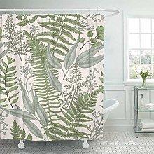 Xxxx Dtjscl Shower curtain Vintage painting fabric