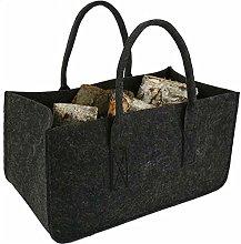 XXXXW Firewood Racks Felt Bag Black Fireplace